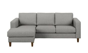 Furny Reagan Four Seater L Shape LHS Sofa (Light Grey)