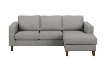 Furny Reagan Four Seater L Shape RHS Sofa (Light Grey)