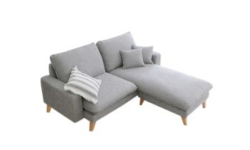 Furny Paris Three Seater Interchangeable L shape Sofa (Grey)