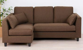 Furny Houston Four Seater L Shape Interchangeable Sofa (Brown)