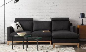 Furny Proximo Four Seater RHS L Shape Sofa (Grey)
