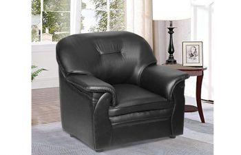 Furny Senberg 1 Seater leatherette Sofa (Black)
