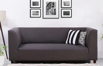 Furny Germany 3 Seater Fabric Sofa Set (Dark Grey)