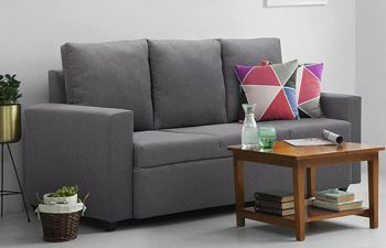 Furny Jorstan 3 Seater Fabric Sofa Set (Dark Grey)