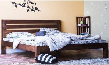 Furny Easton Teak Wood Bed (Teak Polish)