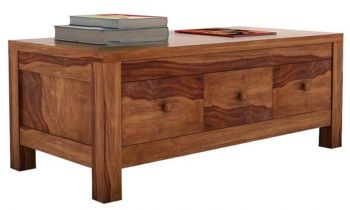 Furny Kyana Teakwood Coffee Table (Teak Polish)