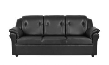 Furny York Three seater Sofa (Black)