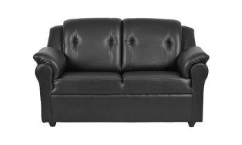 Furny York Two seater Sofa (Black)