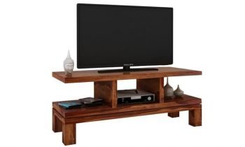 Furny Nova Teakwood TV Unit (Teak Polish)