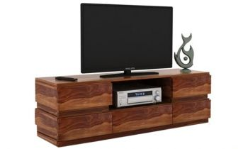 Furny Harvey Teakwood TV Unit (Teak Polish)