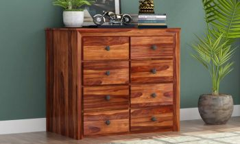 Furny Trunk Teakwood Chest of Drawer (Teak Polish)