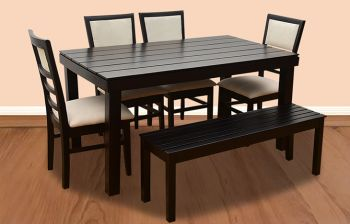 Furny Sophia 6 Seater Dining Table Set with Bench