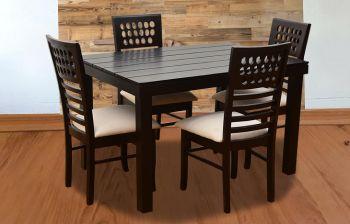 Furny Olivia 4 Seater Dining Table Set