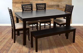 Furny Olivia 6 Seater Dining Table Set with Bench