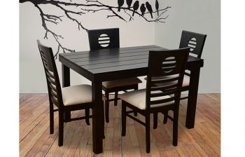 Furny Crown 4 Seater Dining Table Set