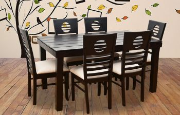 Furny Crown 6 Seater Dining Table Set