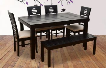Furny Crown 6 Seater Dining Table Set with Bench