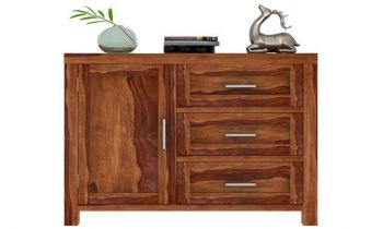 Furny Donato Teakwood Chest of Drawer (Teak Polish)
