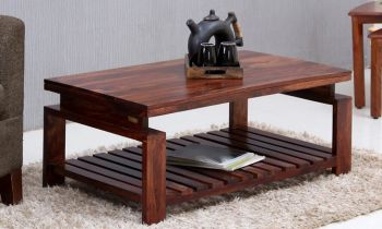 Furny Zova Teakwood Coffee Table (Teak Polish)