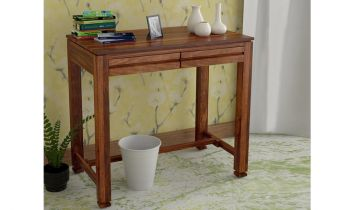 Furny Cambria Teakwood Study cum Laptop Table (Teak Polish)
