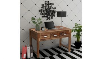 Furny Gypsy Teakwood Study cum Laptop Table (Teak Polish)
