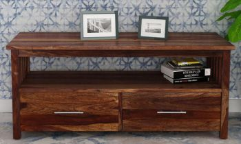Furny Andrew Teakwood TV Unit (Teak Polish)