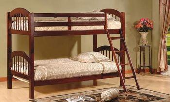 Furny Crown Bunk Teakwood Bed (Teak Polish)