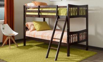 Furny Victoria Bunk Teakwood Bed (Teak Polish)