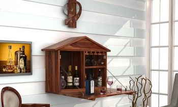 Furny Carshal Teakwood Wine Rack (Teak Polish)