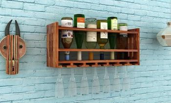 Furny Leston Teakwood Wine Rack (Teak Polish)