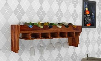 Furny Baylis Teakwood Wine Rack (Teak Polish)