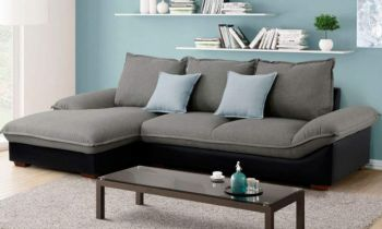 Furny Marvel Four Seater L shape sofa (Light Grey)