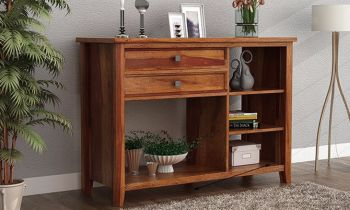 Furny Karam Teakwood Console Table (Teak Polish)