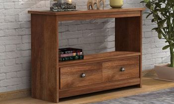 Furny Marley Teakwood Console Table (Teak Polish)