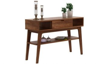 Furny Nimbus Teakwood Console Table (Teak Polish)