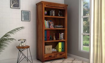 Furny Jamal Teakwood Bookshelf (Teak Polish)