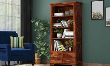 Furny Donney Teakwood Bookshelf (Teak Polish)