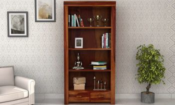 Furny Coomes Teakwood Bookshelf (Teak Polish)