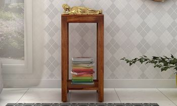 Furny Hazz Teakwood Display Unit (Teak Polish)