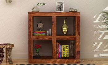 Furny Roanny Teakwood Display Unit (Teak Polish)