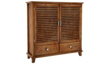 Furny Dessy Teakwood Shoe Rack with Drawer (Teak Polish)