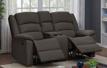 Furny Carson Two Seater with Storage Living Room Recliner Sofa