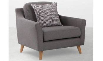 Furny Casafurnish Becca One Seater Sofa (Grey)