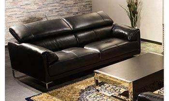 Furny Casafurnish Carven Three Seater Sofa (Black)