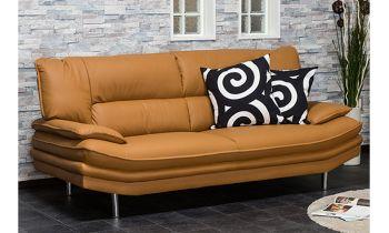 Furny Casafurnish Agnes Three Seater Sofa (Camel)