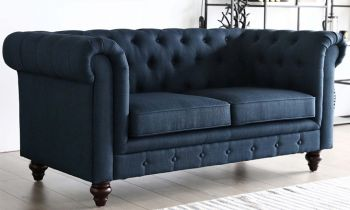 Furny Casafurnish Scala Two Seater Chesterfield Sofa (Blue)