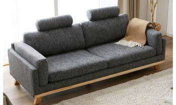 Furny Casafurnish Ambros Three Seater Interchangeable Sofa (Dark Grey)