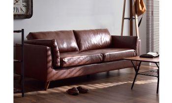 Furny Casafurnish Kristofer Three Seater Sofa (Brown)