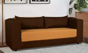 Furny Sleepify Three Seater Sofa Cum Bed with Cupholder (Camel-Brown) 6'X5'