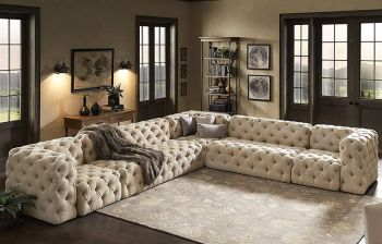Furny Interiona 7 Seater Modular Sofa (Cream)